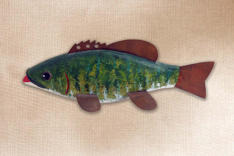 Small Mouth Bass Folk Art Fish Decoy