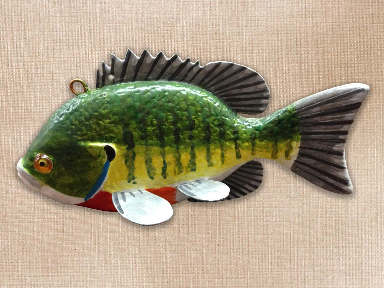 Sunfish Bluegill Fish Decoy Folk Art