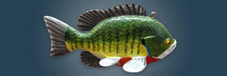 Sunfish Bluegill Fish Decoy Folk Art