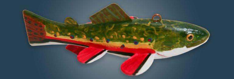 Brook Trout Fish Decoy Folk Art