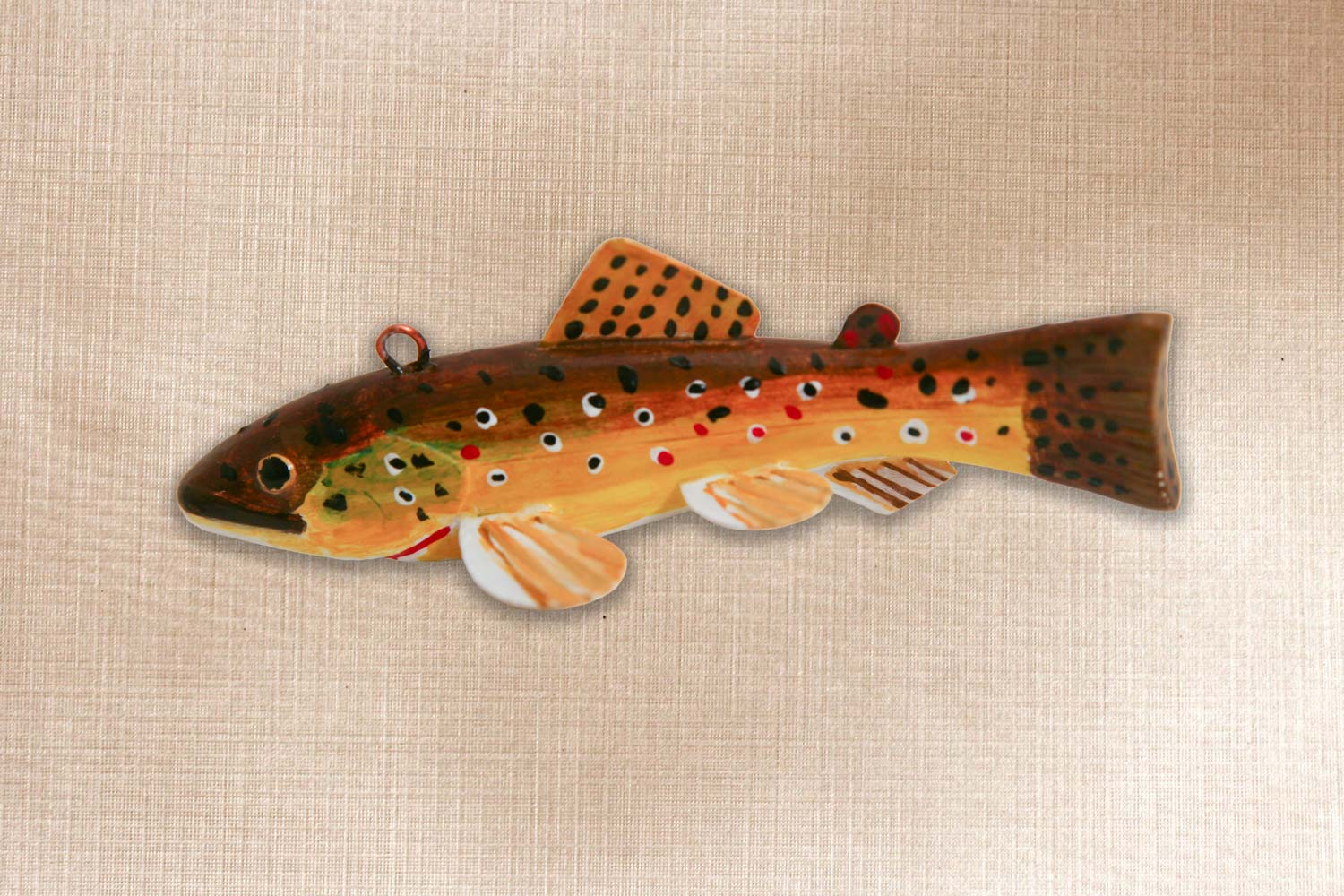 Brown Trout Fish Decoy Folk Art