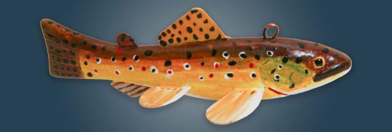 Brown Trout Fish Decoy Folk Art
