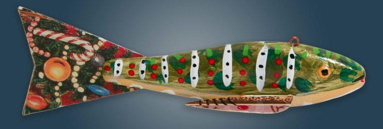Christmas Fish Decoy Folk Art