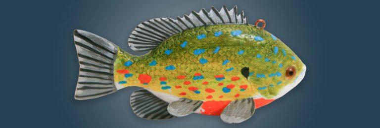 Sunfish Fish Decoy Folk Art