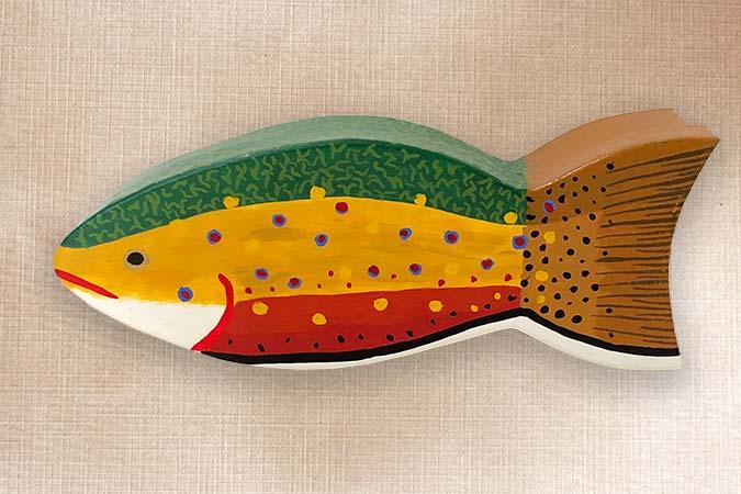 Brook Trout Folk Art Fish Box
