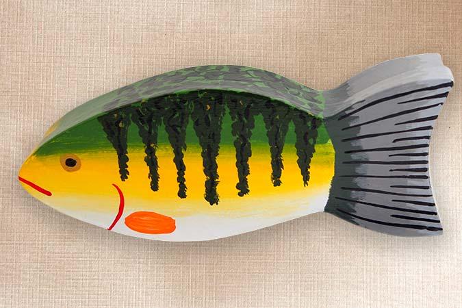 Perch Folk Art Fish Box