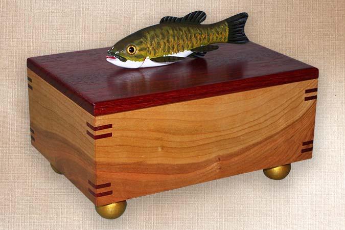Small Mouth Bass Fish Decoy Folk Art Box