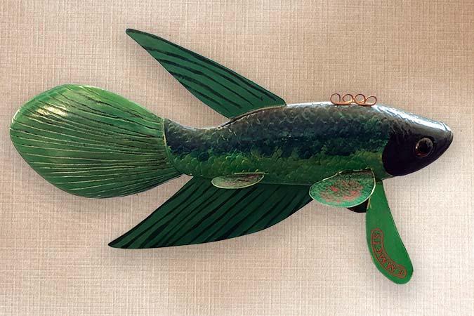 Folk Art Betta Decorative Fish Decoy