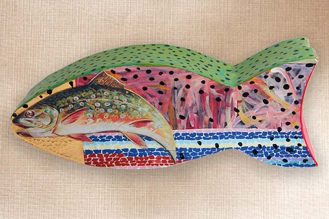 Folk Art Fish Box
