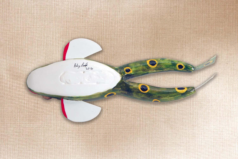 Frog Fish Decoy Folk Art