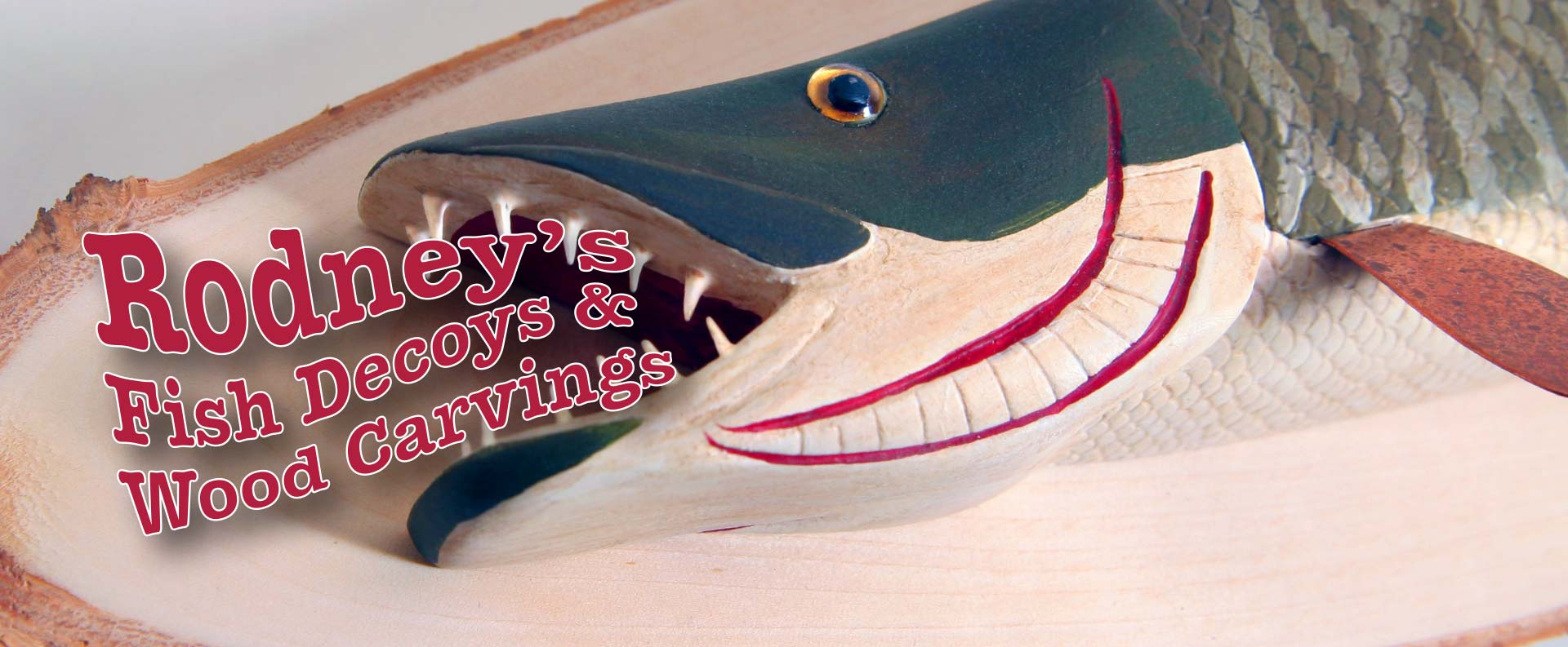 Rodney's Fish Decoys and Wood Carvings Fish Decoy Folk Art