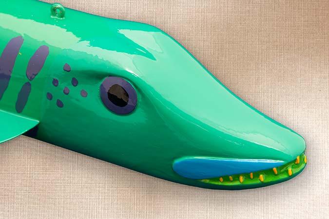 Musky Fish Decoy Folk Art