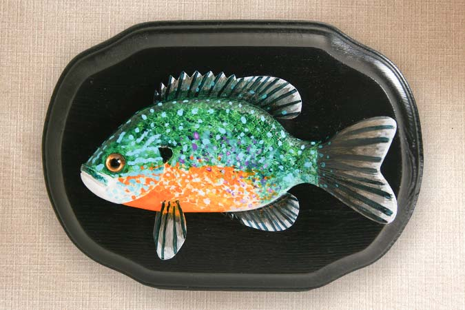 Sunfish Folk Art Fish Decoy Plaque